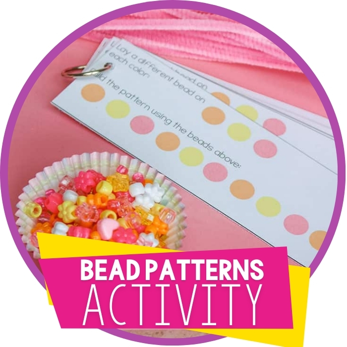 Making Patterns with Beads Plus Free Printable Patterning Cards