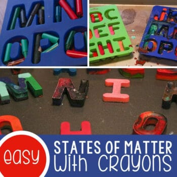 States of Matter with Crayons Featured Square Image
