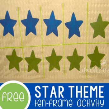 Ten-frame and Number Bond Life-Size Activity Star Featured Square Image