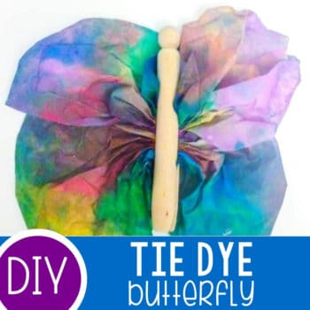 Tie Dye Butterflies with Coffee Filters Featured Square Image