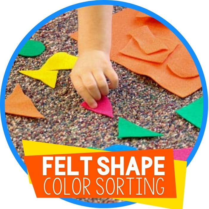 Using Felt to Sort Shapes and Colors