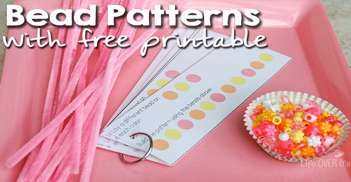 Create beautiful spring patterns with this free printable! Works with any type of beads!