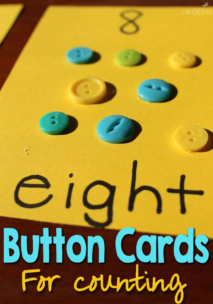 Create Button Counting Cards for Preschoolers
