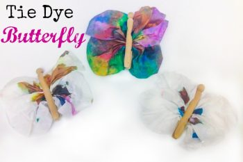 These tie dye butterflies are such a fun way to learn about color mixing! They make great Mother's Day gifts too!