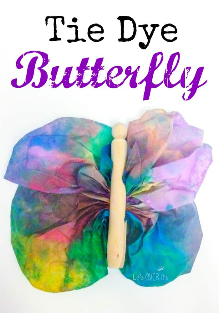 Tie Dye Butterfly craft! This is so cute and it looks so easy to do!