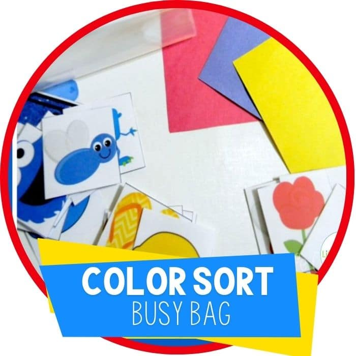 Free Printable Matching Colors Busy Bag
