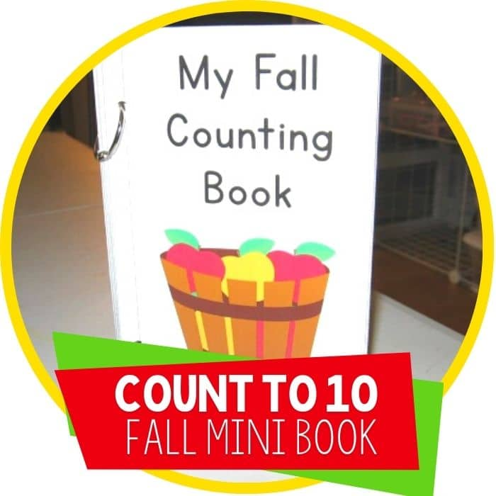 count to 10 fall mini emergent reader Featured Image