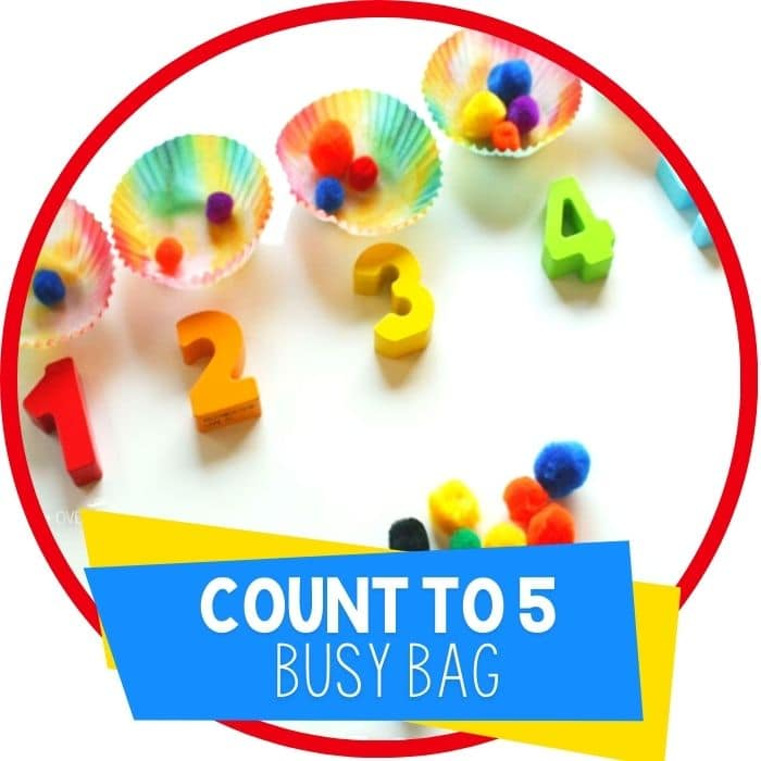 Rainbow Counting to 5 Busy Bag