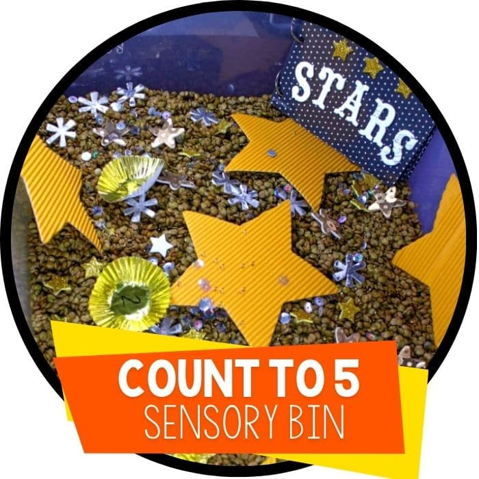 Counting Stars Sensory Bin for Math Skills