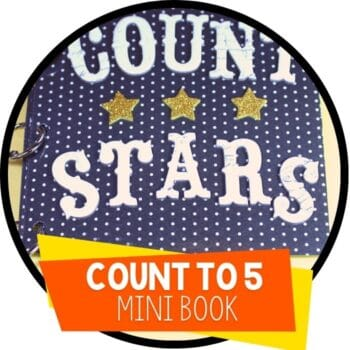 count to 5 star theme mini book Featured Image