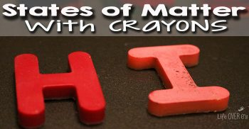 Create new crayons from old, broken crayons with this fun states of matter activity!