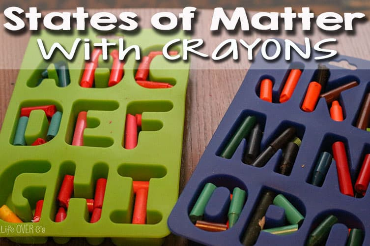 Explore states of matter with crayons! A fun activity and a great use for broken crayons!