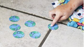 These free earth printables are great for building language skills with preschoolers and working on fine-motor skills.