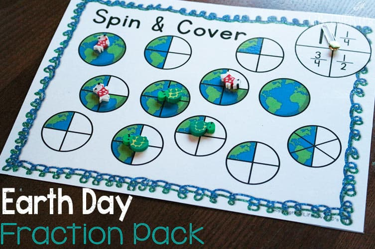 Earth Day Equivalent Fractions Free Printable
