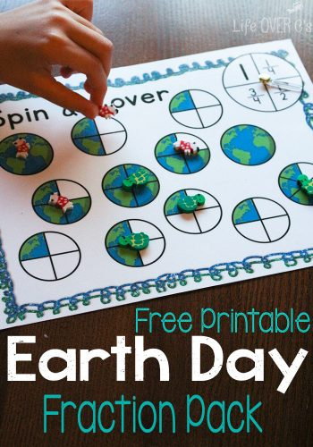 Practice fractions with these fun free printable activities. Perfect for Earth Day!