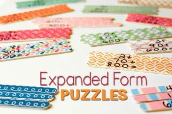 Create some expanded form puzzles with popsicle sticks for a fun way to practice place value!