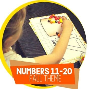 fall theme numbers counting mats 11-20 Featured Image
