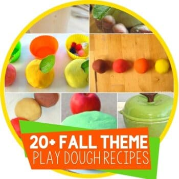fall theme play dough recipes Featured Image