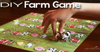 This DIY Farm Game for preschoolers is a great way to work on language skills and good sportsmanship.