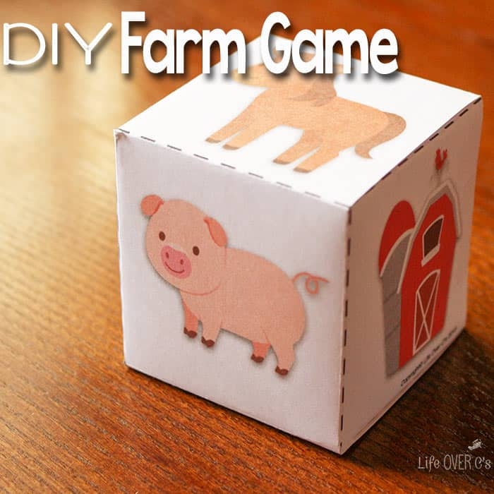 This DIY Farm Game with free printable dice for preschoolers is a ...