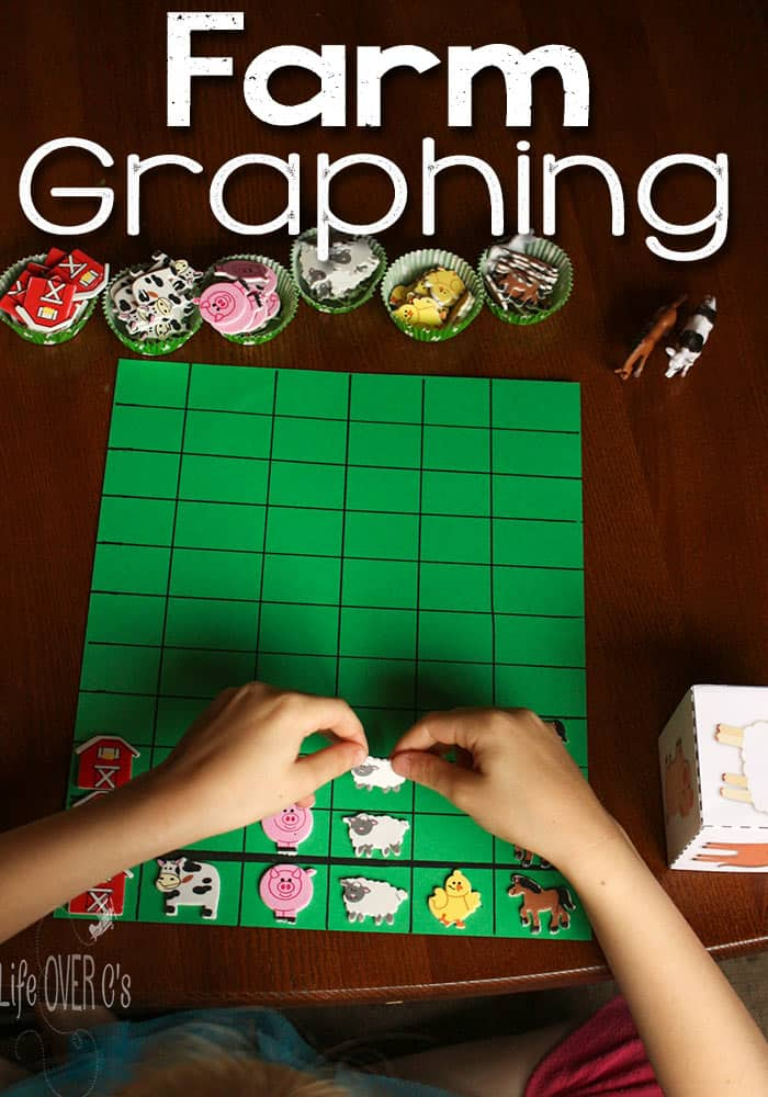 Graphing is so much more fun when it involves stickers and dice! This farm graphing activity is so easy to prepare and so much fun!
