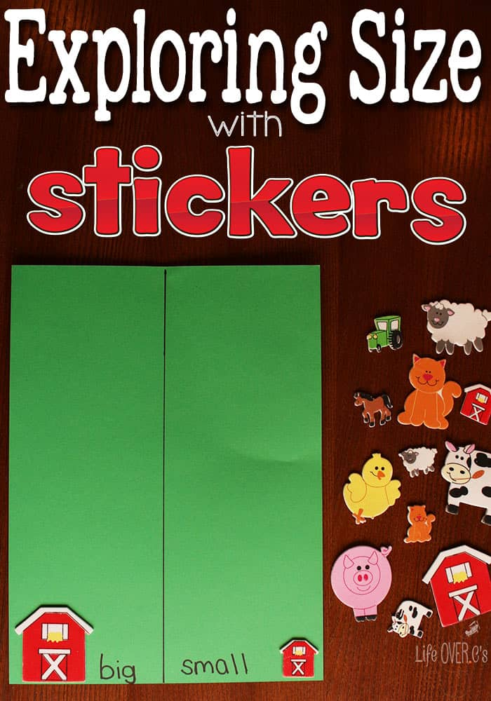 Learning About Size with Stickers