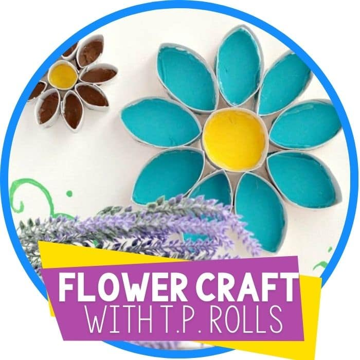 Easy Flower Cardboard Tube Wall Art