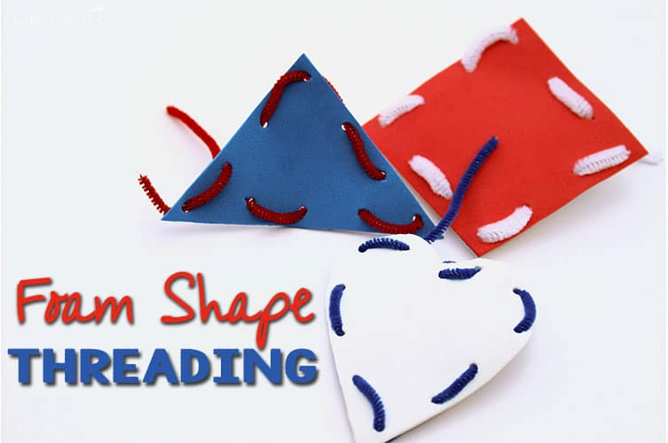 These fine-motor shapes are so easy to create and are great for learning about colors and shapes with preschoolers.