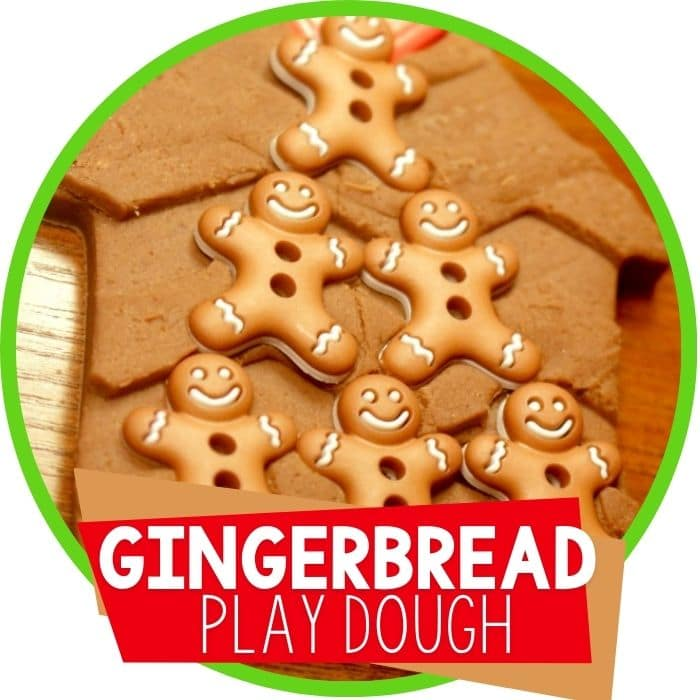 Building Gingerbread Houses with Play Dough