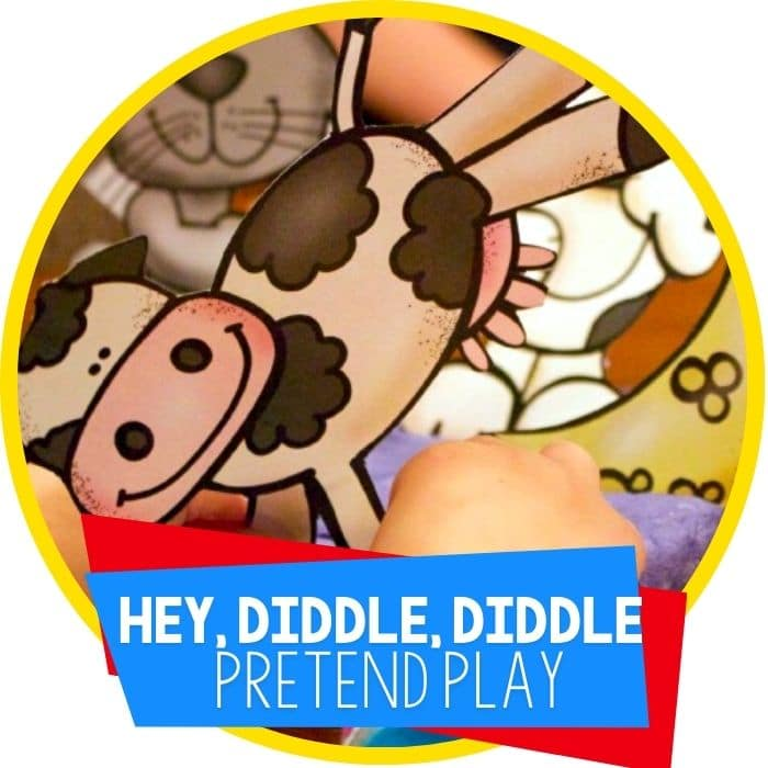 Hey, Diddle, Diddle Nursery Rhyme Play Dough Set