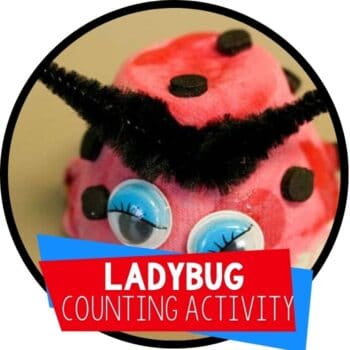 ladybug counting craft and activity Featured Image