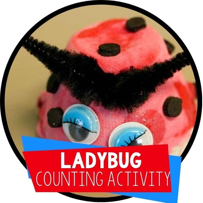 Make Ladybug Math Manipulatives from Egg Cartons