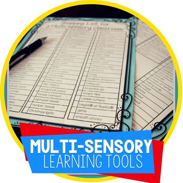 Must Have Multi-Sensory  School Supplies