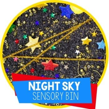 night sky stars sensory bin Featured Image