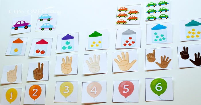 Practicing numbers is a blast with this free number recognition printable activity for preschoolers! There are so many different ways to show each number!