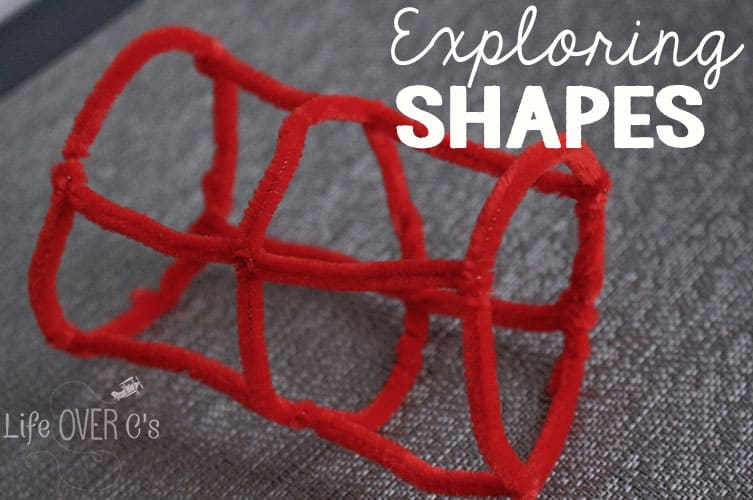 30 seconds is all it takes to prepare this super simple 3D shapes activity!
