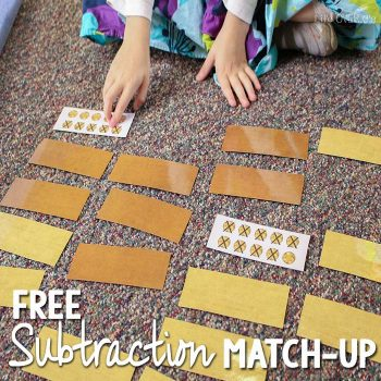 This free subtraction matching game is perfect to use with