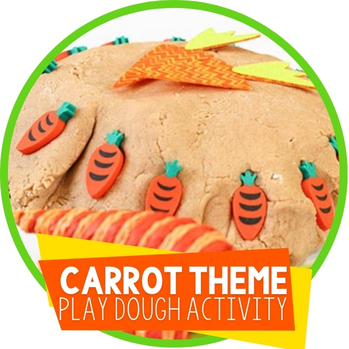 Carrot Play Dough Invitation to Play Featured Image