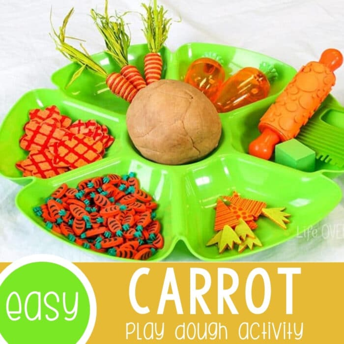 Carrot Play Dough Invitation to Play Featured Square Image