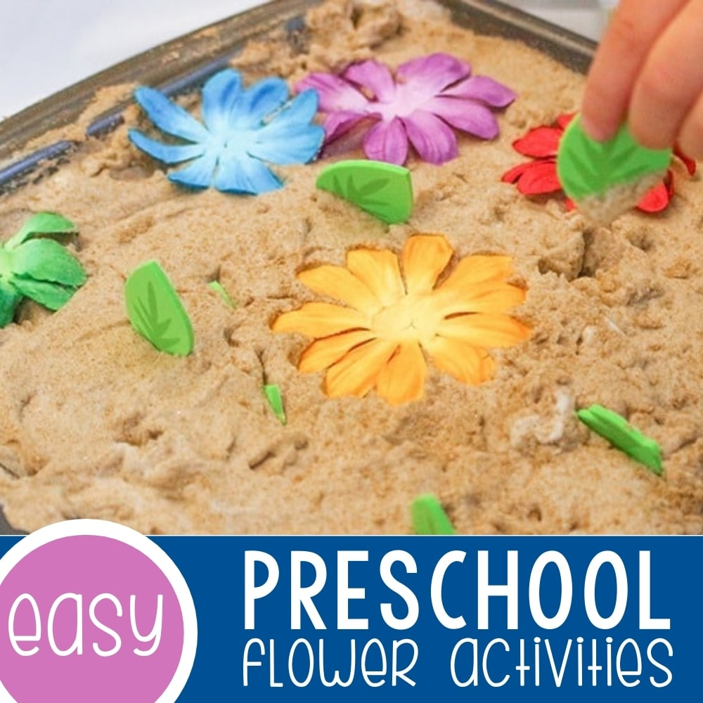 Colors and Numbers Flower Sensory Play for Preschoolers