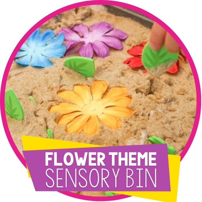 Colors and Numbers Flower Sensory Play for Preschoolers Featured Image
