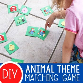DIY Animal Matching Game for Preschoolers Featured Square Image
