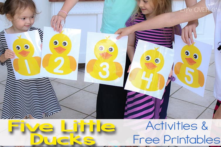 Five Little Ducks On The Pond Gross Motor Activity