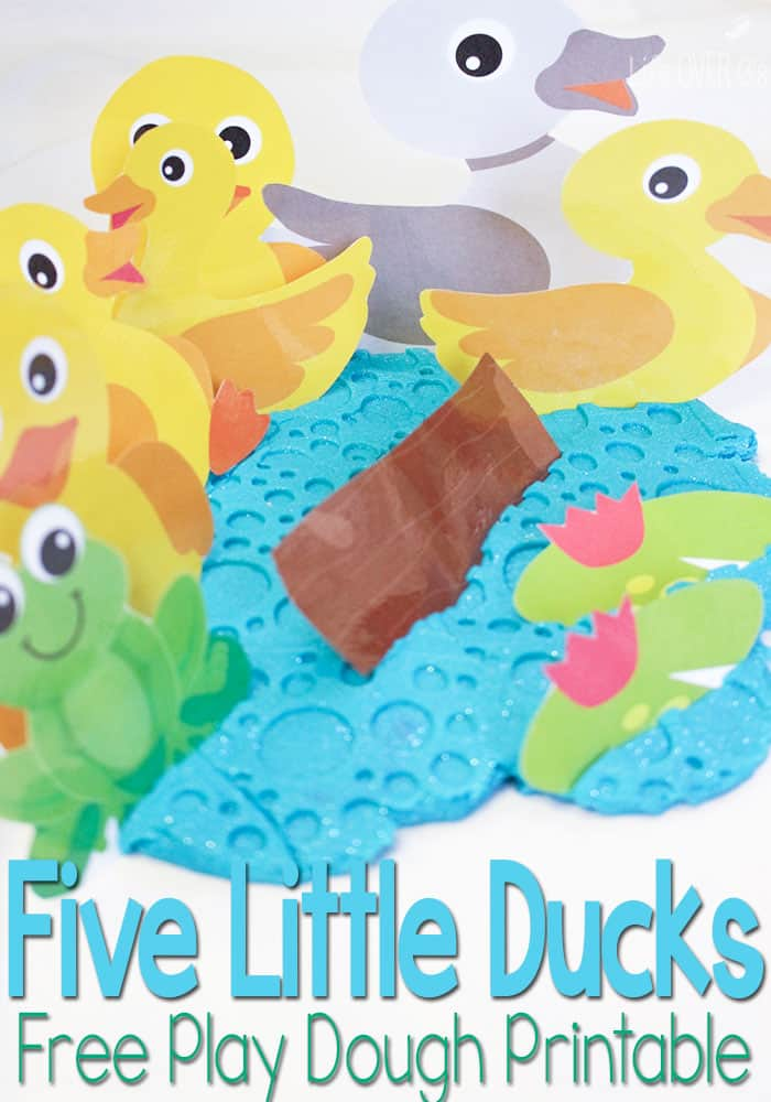 Five Little Ducks on the Pond Free Play Dough Printable
