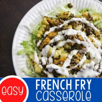 French Fry Casserole Featured Square Image