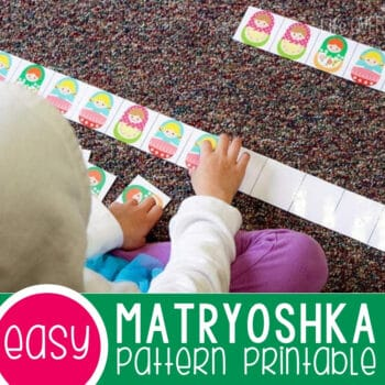 Matryoshka Pattern Printable for Kids Featured Square Image