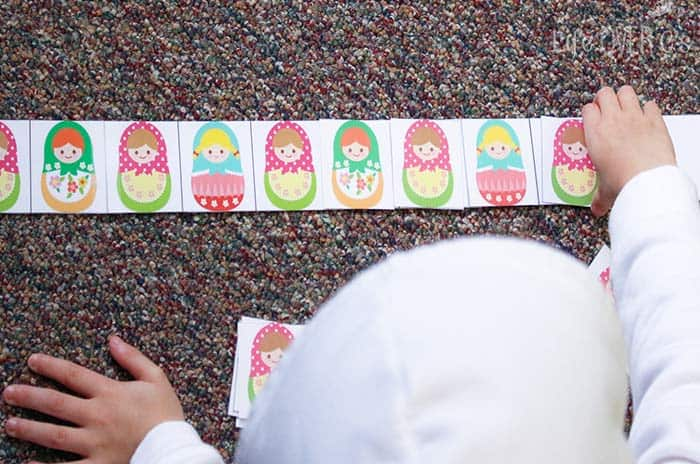 These free matryoshka pattern strips are perfect for kids who need some hands-on practice with developing patterns. These are perfect for kids who need a bit of a challenge!