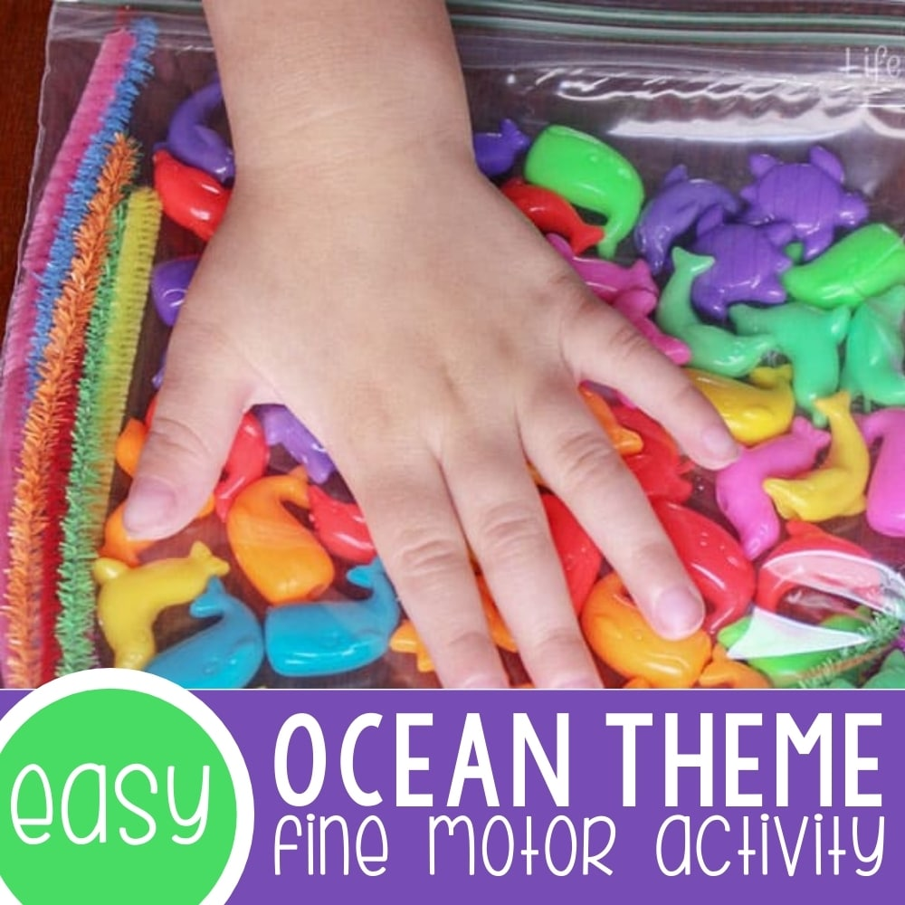 Ocean Themed Fine Motor Activity for Preschoolers