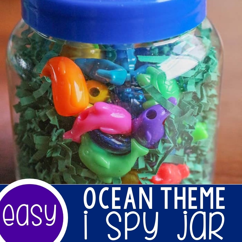 Ocean Themed I Spy Jar for Preschoolers