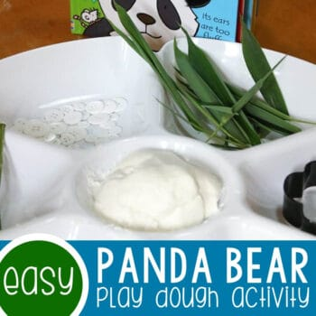 Panda Bear Play Dough Activity Featured Square Image